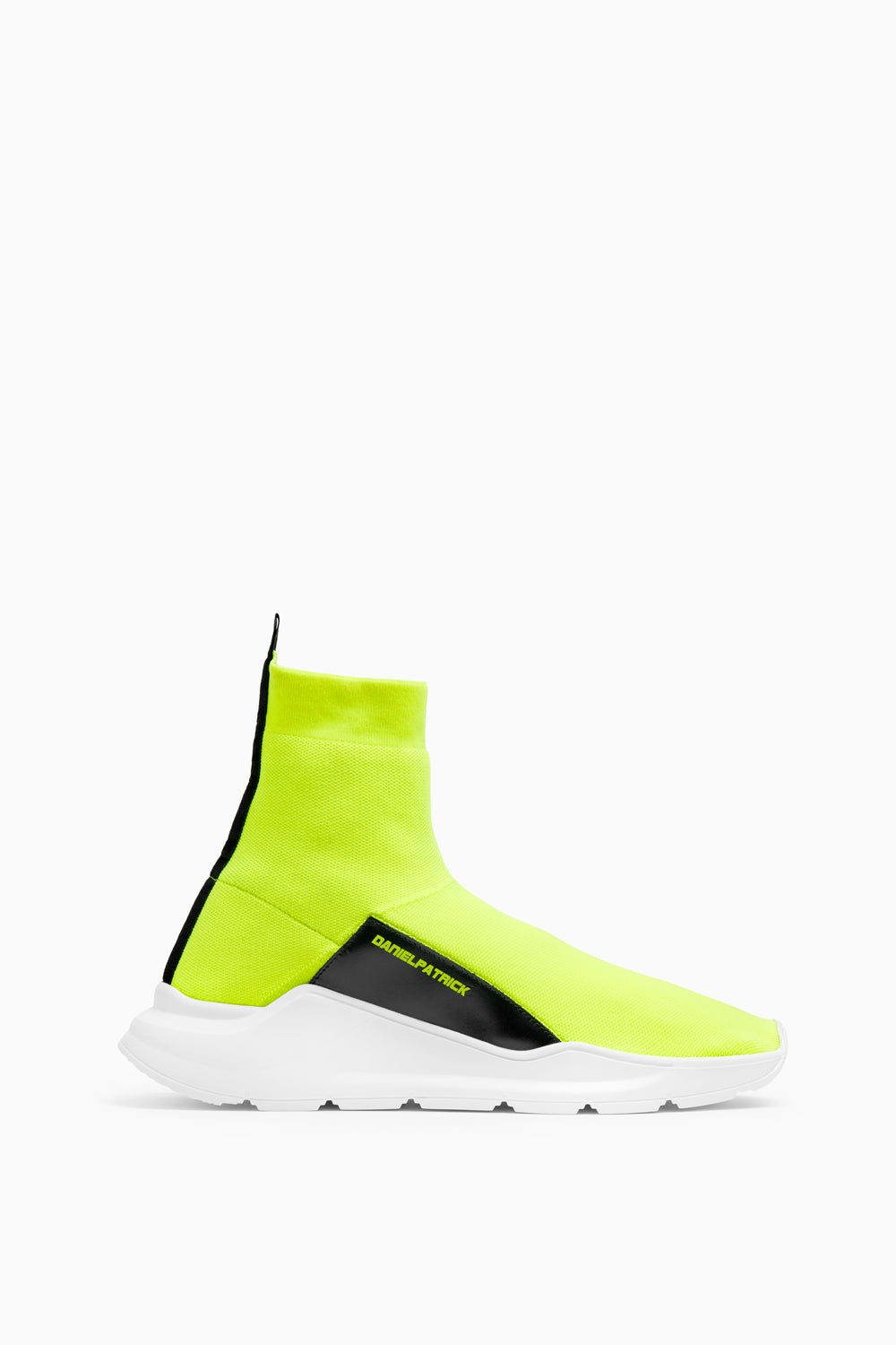 sock runner sneaker in neon yellow by daniel patrick