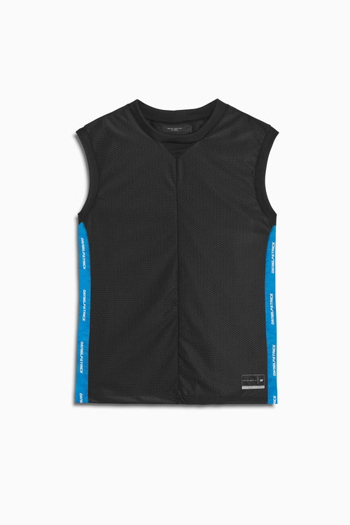 mesh b-ball tank in black/cobalt by daniel patrick