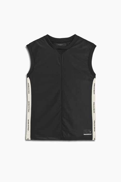 mesh b-ball tank in black/ivory by daniel patrick