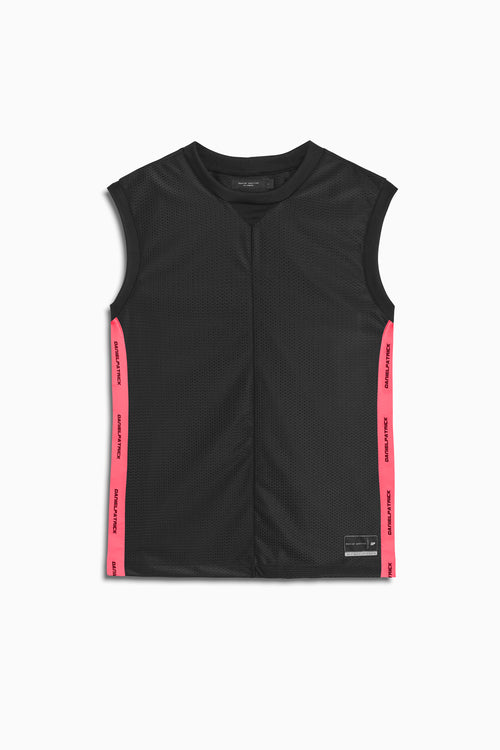 mesh b-ball tank in black/neon pink by daniel patrick