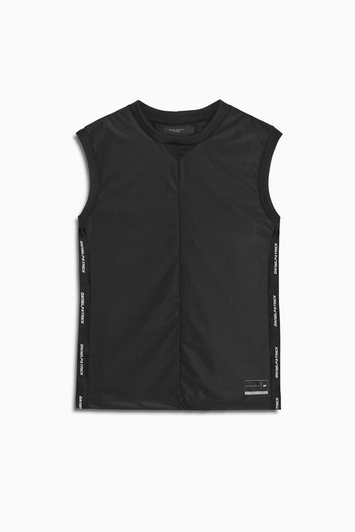 mesh b-ball tank in black by daniel patrick