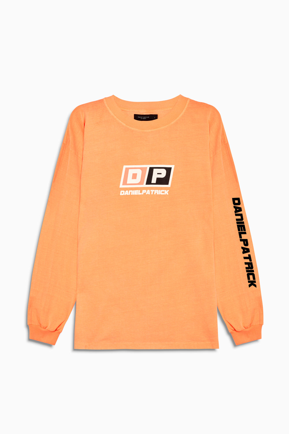 motorsport l/s crew in neon orange by daniel patrick