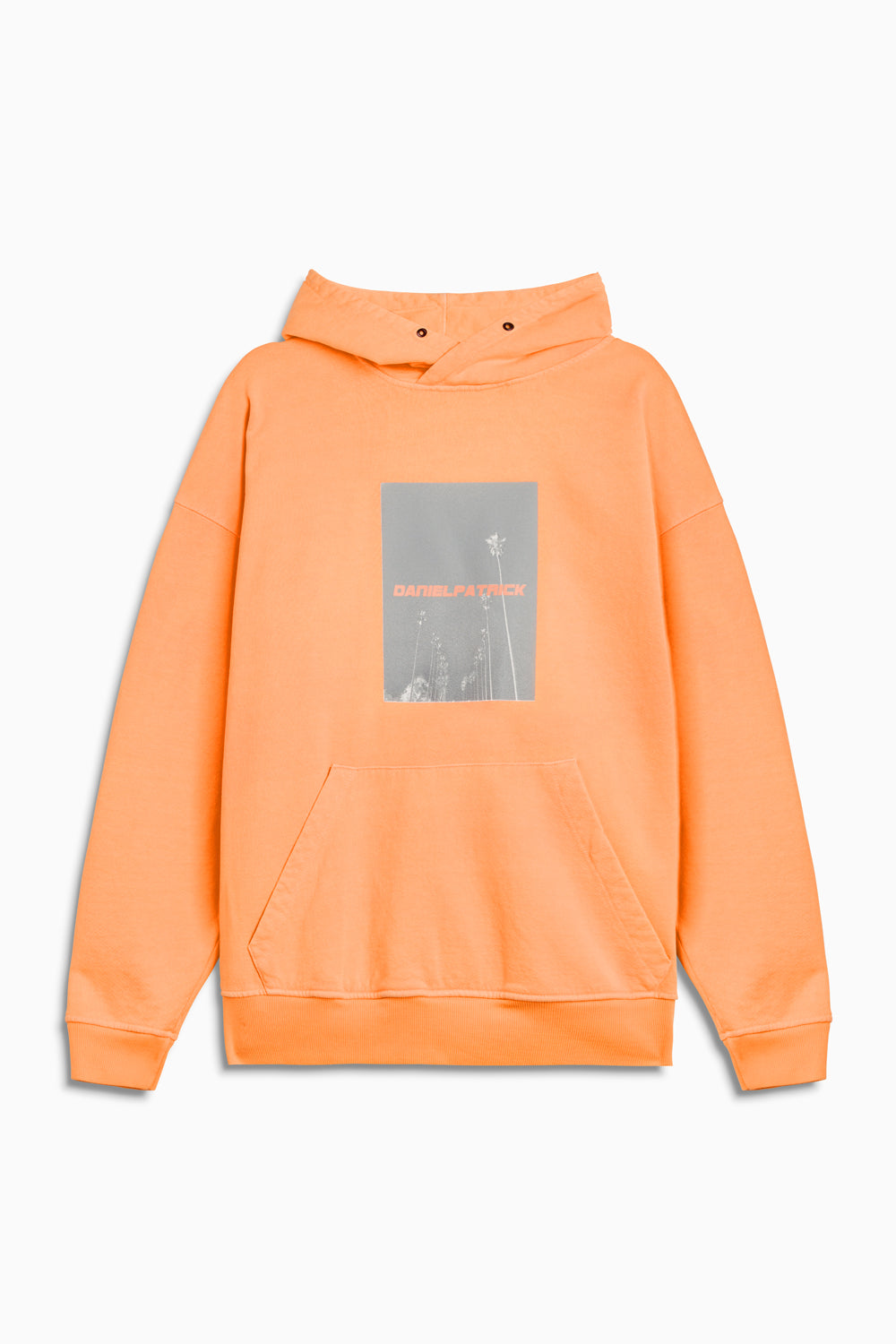 neon palm hoodie in neon orange by daniel patrick