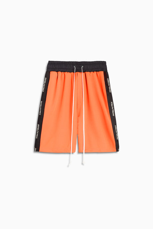 2019 gym short in neon orange/black by daniel patrick