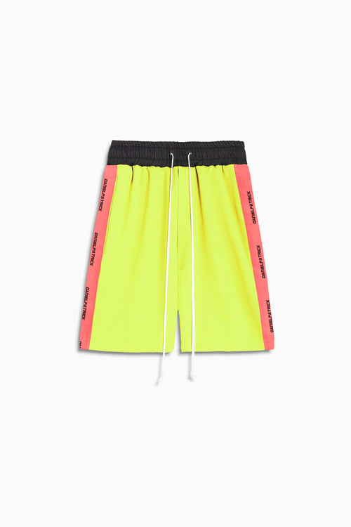 2019 gym short in neon yellow/neon pink by daniel patrick