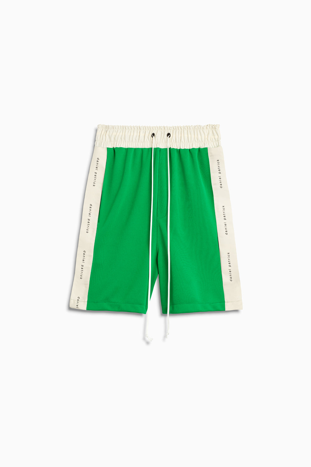 roaming gym shorts in green/ivory by daniel patrick
