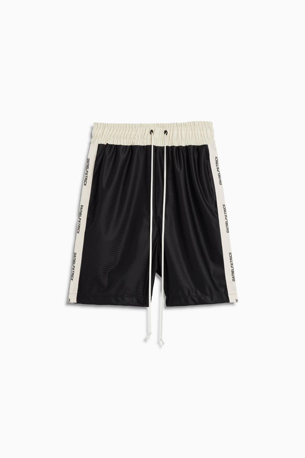 mesh gym short in black/ivory by daniel patrick
