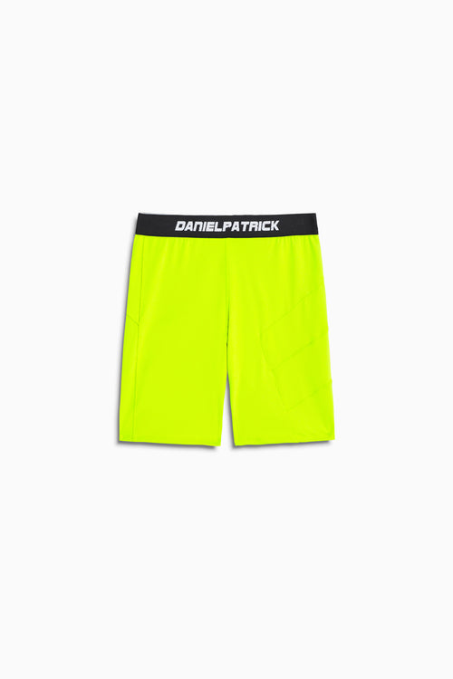 LA bike short in neon yellow by daniel patrick