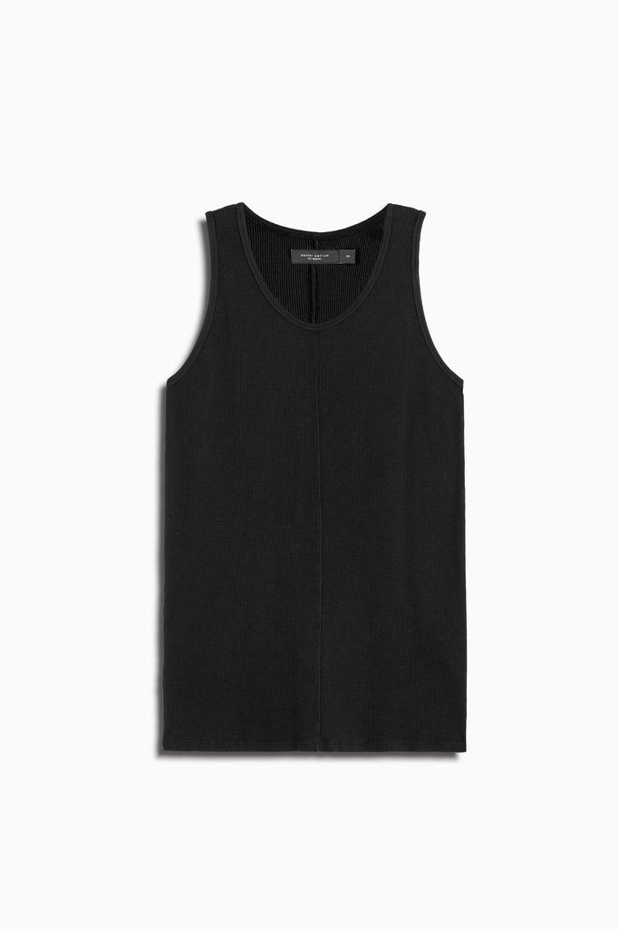 thermal tank top in black by daniel patrick