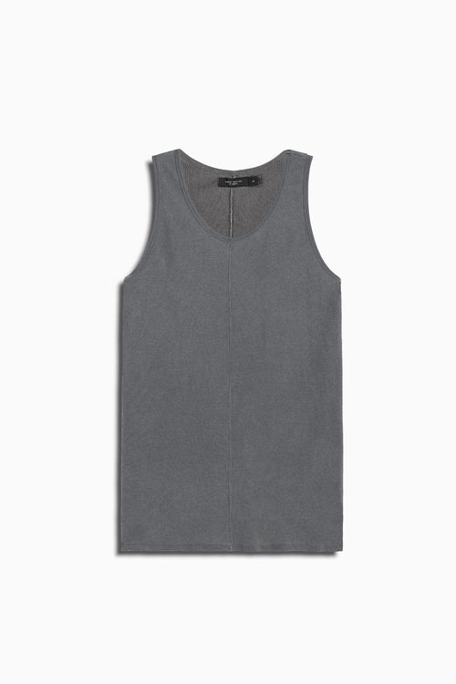 thermal tank top in vintage black by daniel patrick