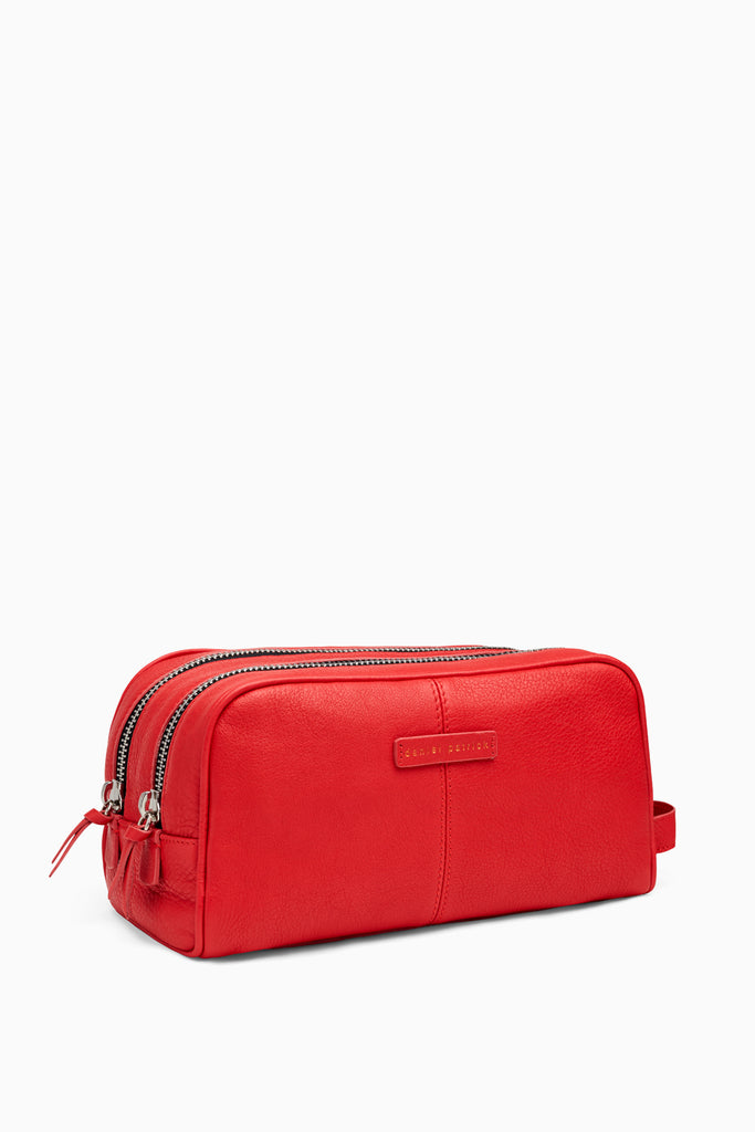 toiletry bag in red by daniel patrick