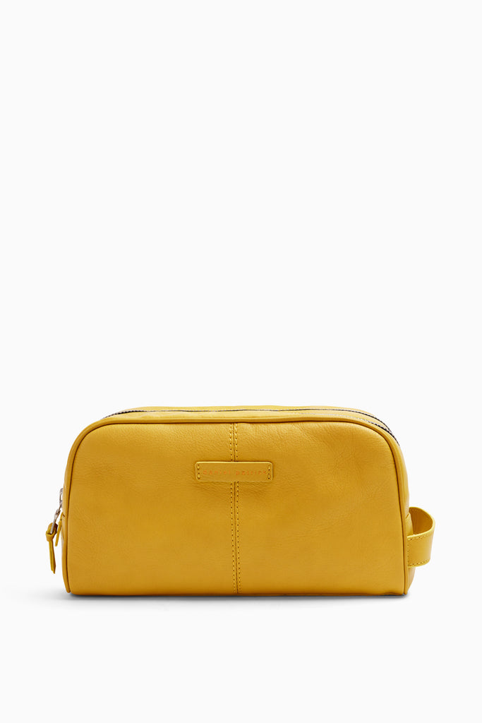 toiletry bag in yellow by daniel patrick