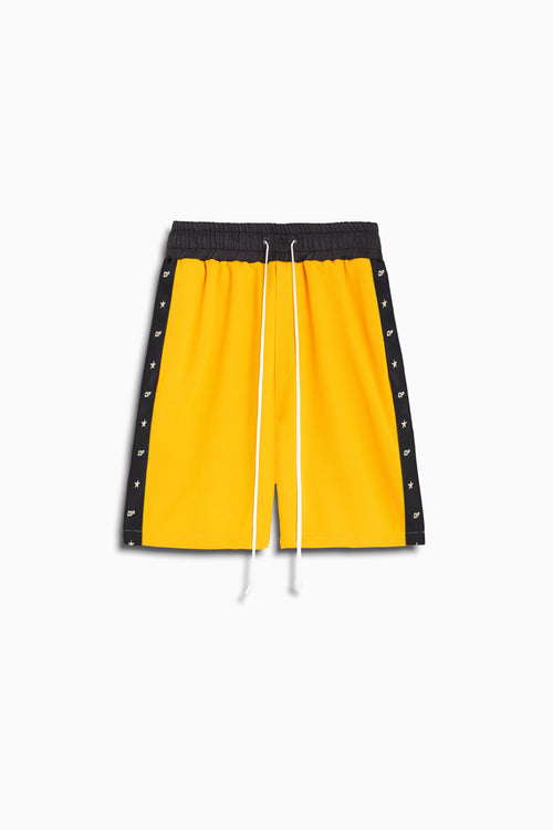 track team gym short / yellow + black
