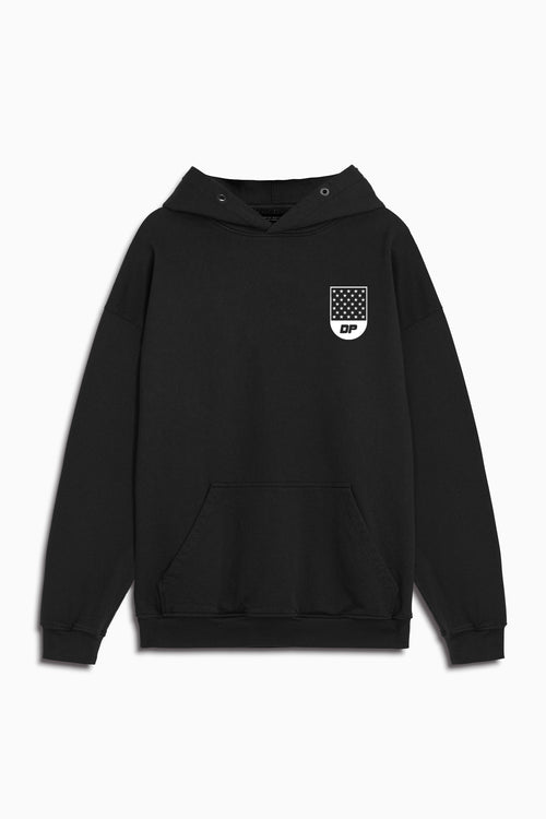 track team hoodie in black/ivory by daniel patrick