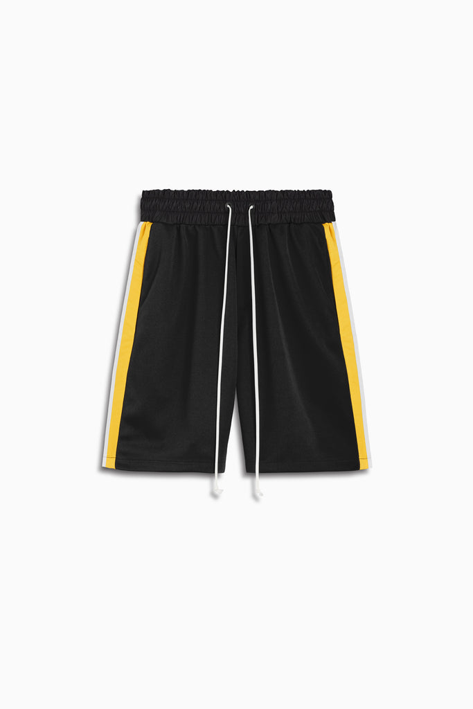 tri shorts in black/yellow/ivory by daniel patrick