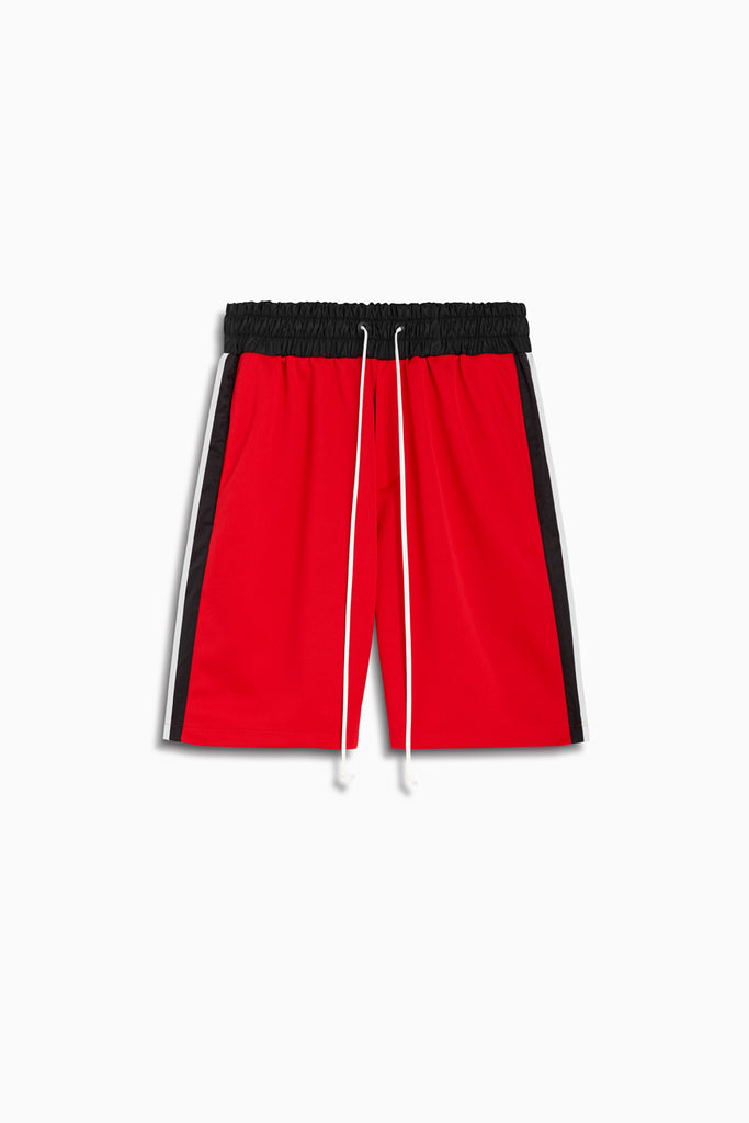 tri shorts in red/black/ivory by daniel patrick