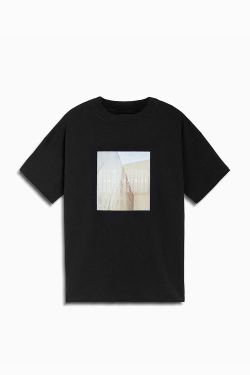venice tee in black by daniel patrick