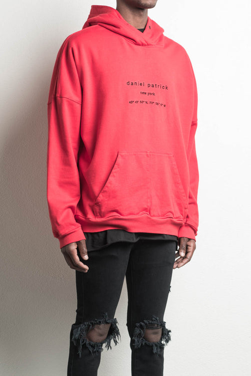 heavy hoodie NY / red