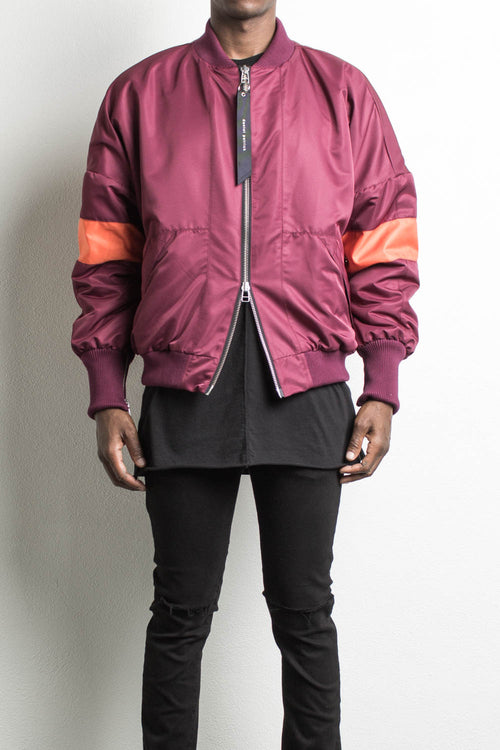 hero bomber v / maroon + orange