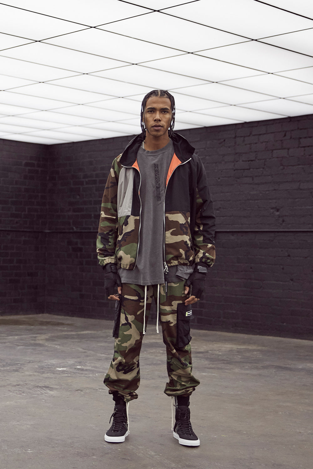 M93 cargo pant in camo/black by daniel patrick