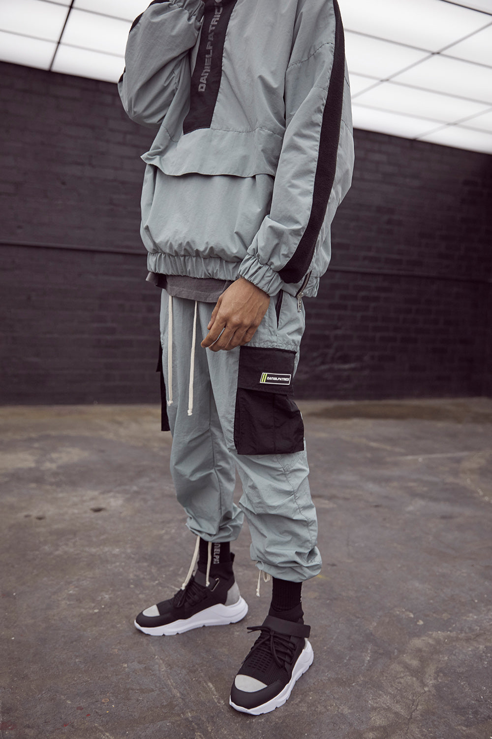 M93 cargo pant in sea foam/black by daniel patrick