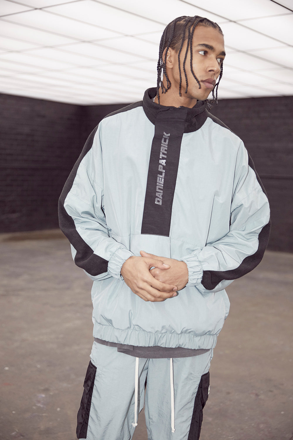 M93 anorak in sea foam/black by daniel patrick