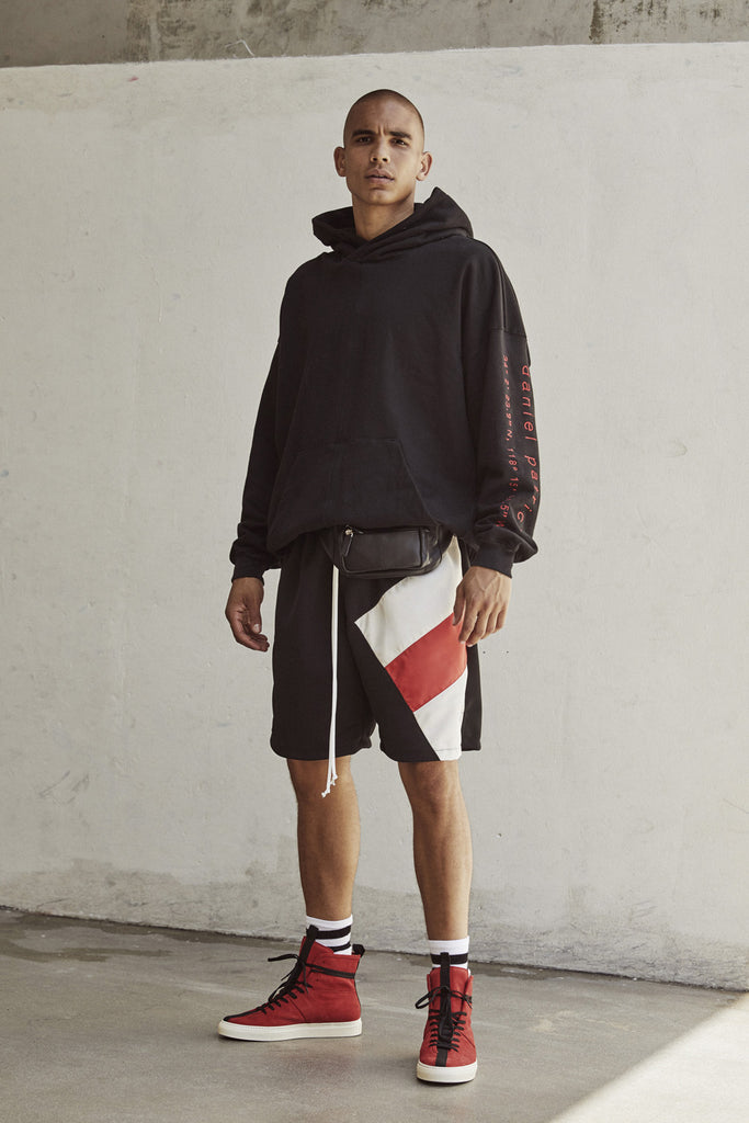 LA shorts in black/red/ivory by daniel patrick