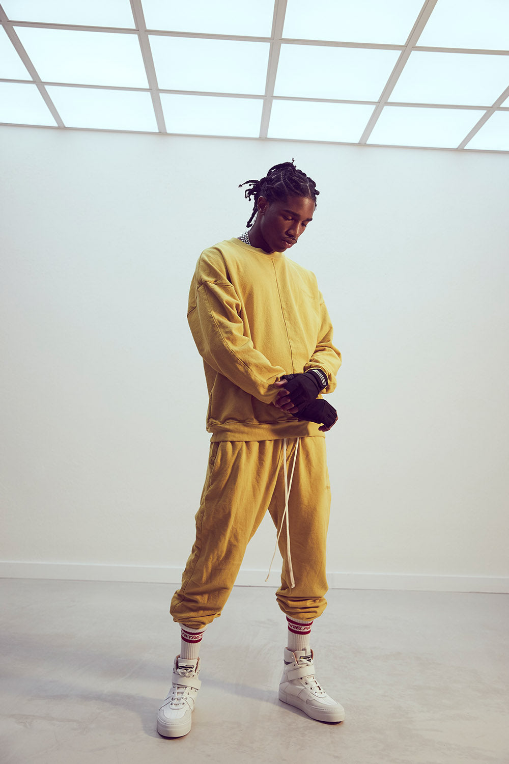 roaming track pant ii / mustard yellow