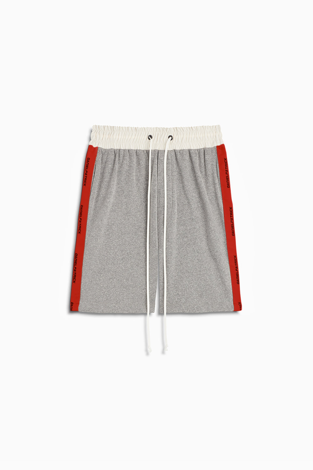 loop terry gym short in heather grey/red by daniel patrick