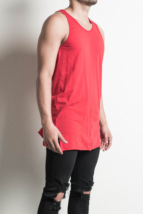 loose tank in red by daniel patrick