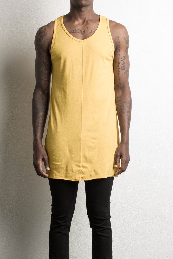 loose tank in yellow by daniel patrick
