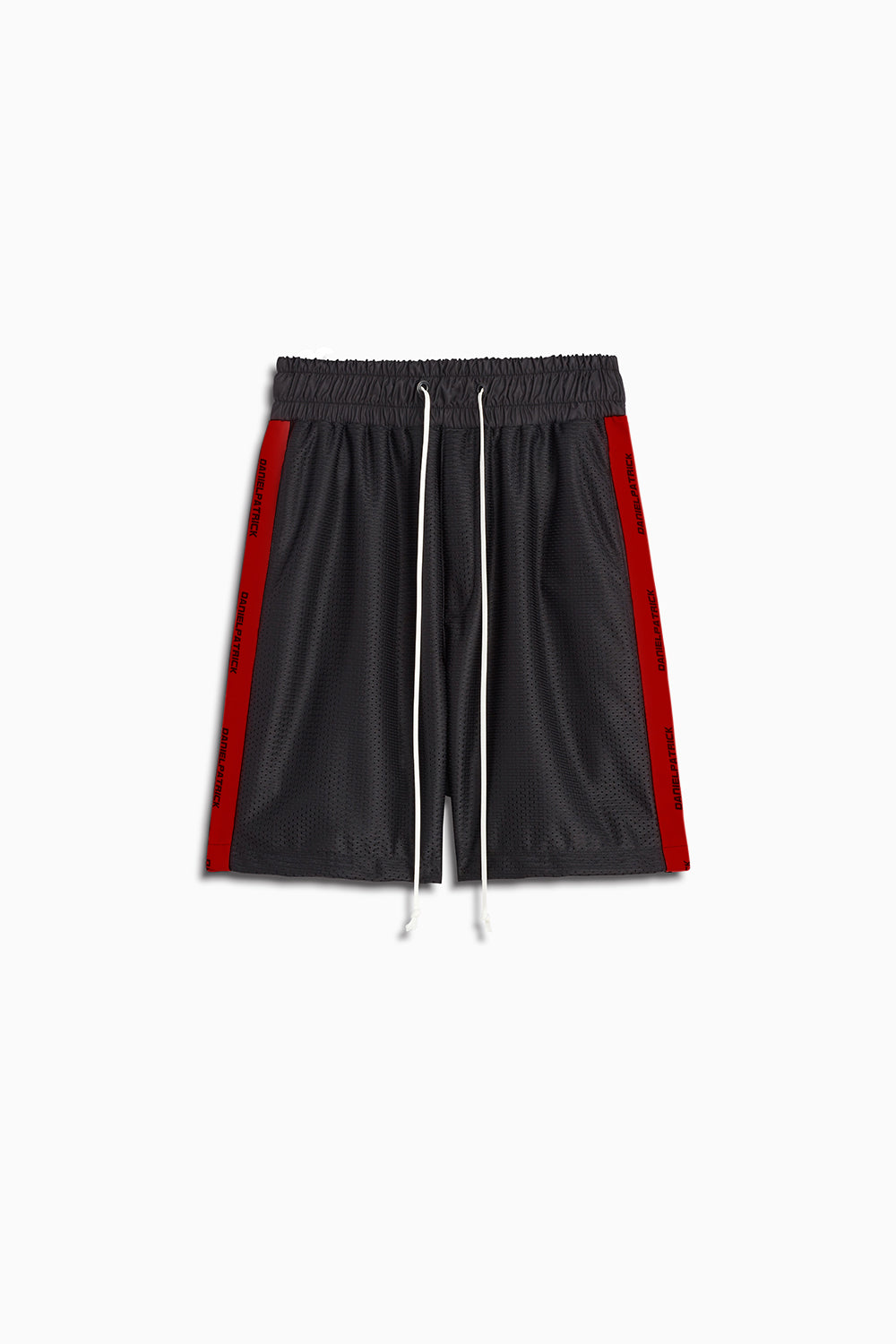 mesh gym short in black/red by daniel patrick