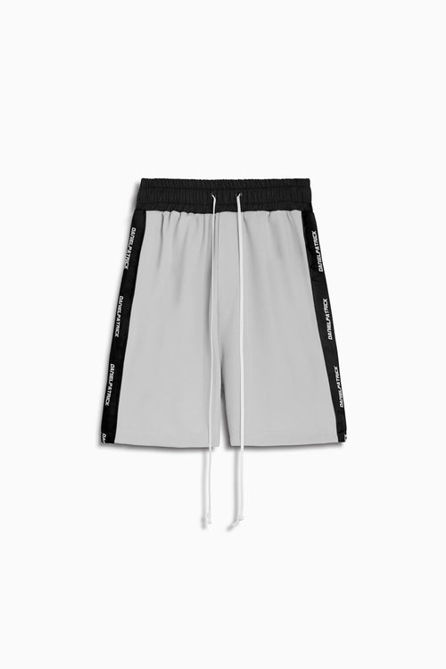2019 gym short / silver + black