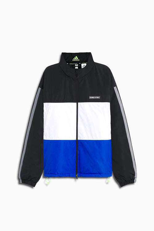 DP adidas Basketball x Harden puffer / black + white + glory blue