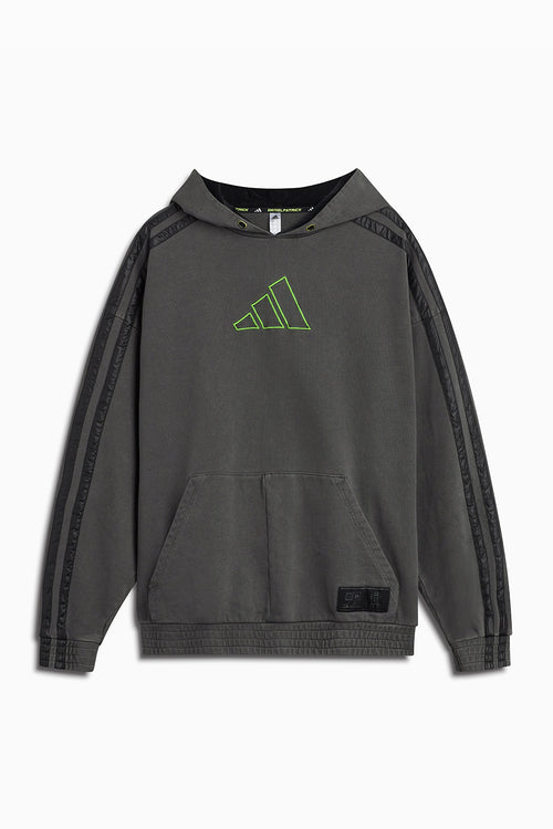 DP adidas Basketball x Harden hoodie / vintage black + signal green