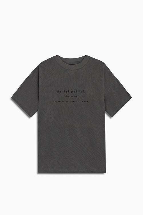 long beach souvenir tee / vintage black