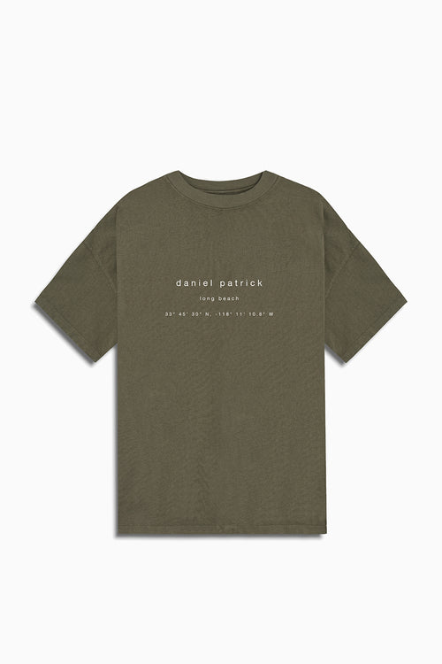 long beach souvenir tee / washed olive