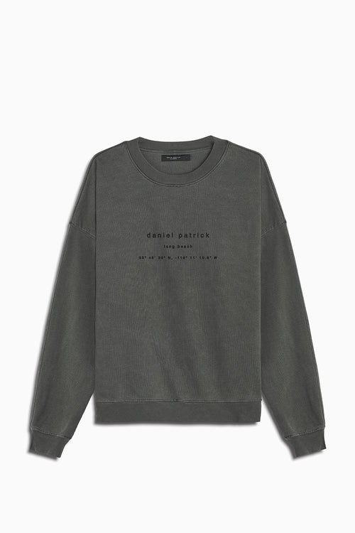 long beach souvenir sweat / vintage black