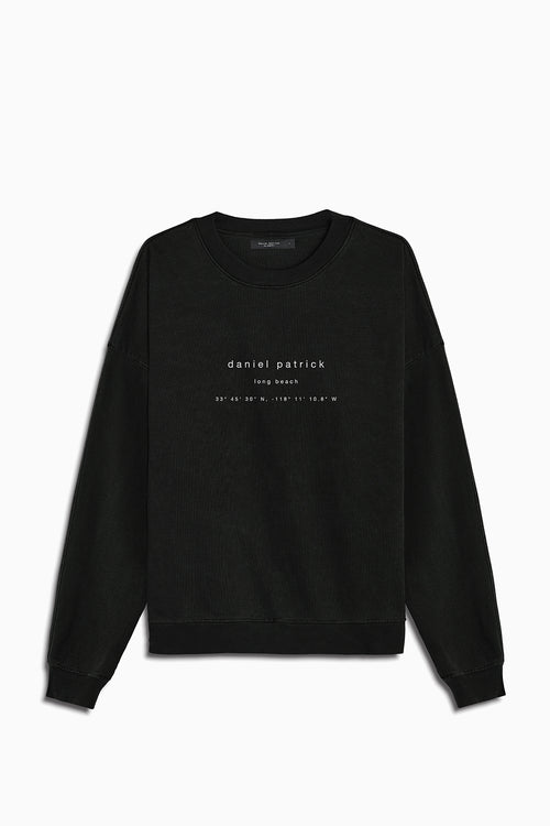 long beach souvenir sweat / washed black