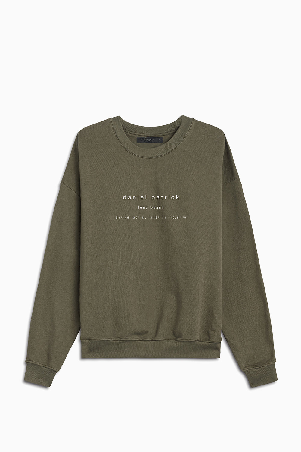 long beach souvenir sweat / washed olive