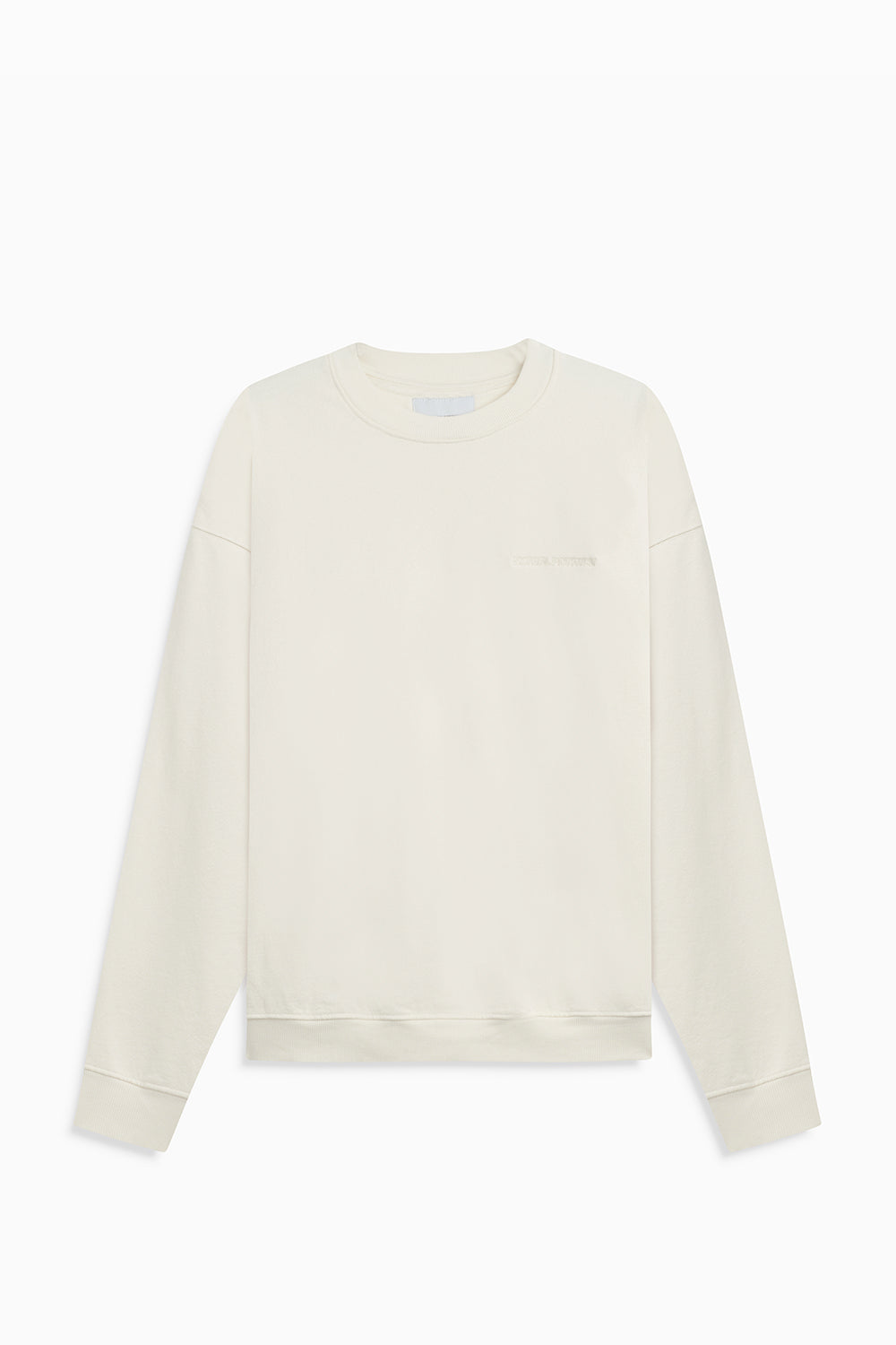pullover crew neck sweatshirt / natural
