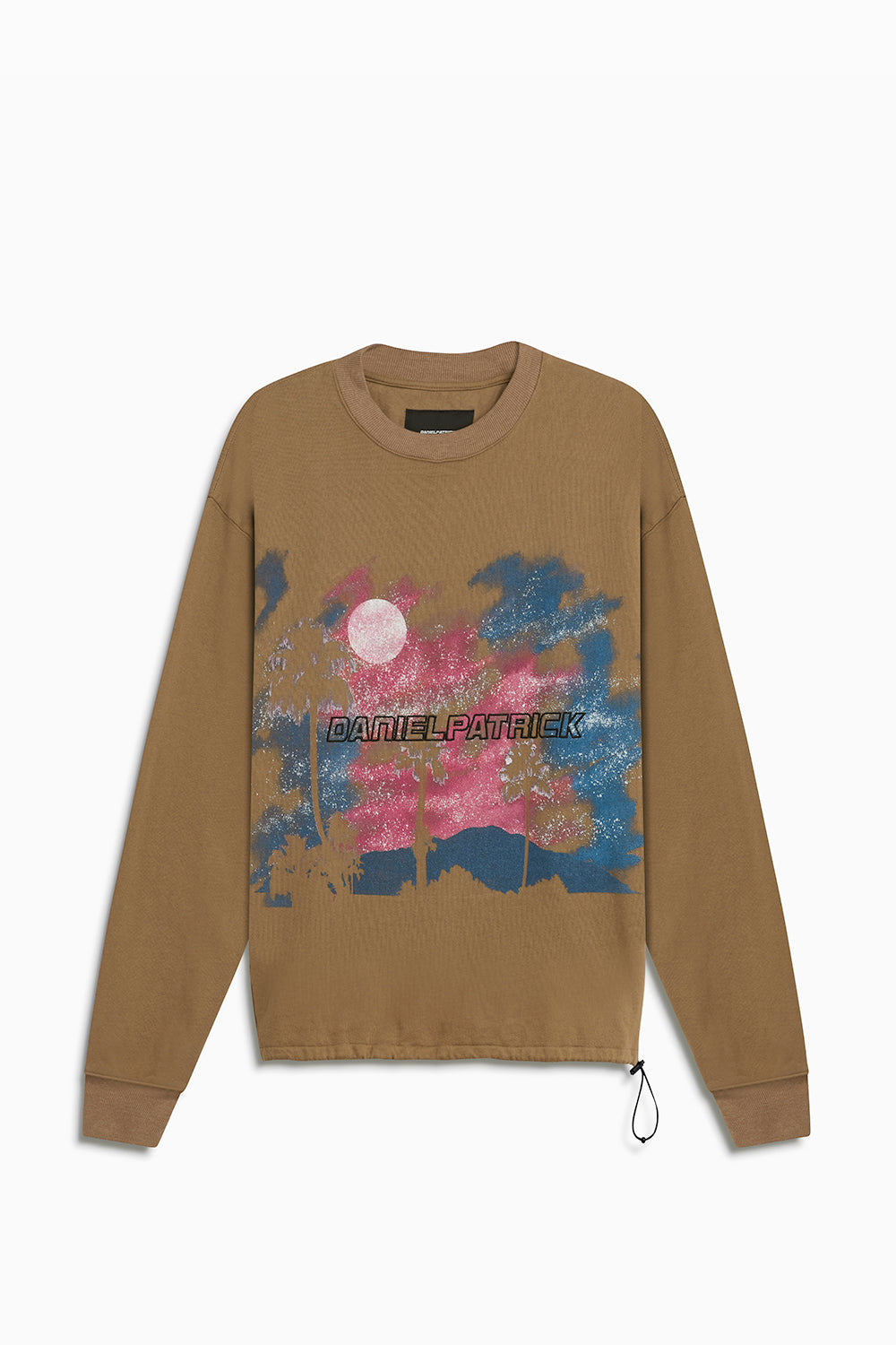 sunset bungee sweatshirt / mojave + pink + blue