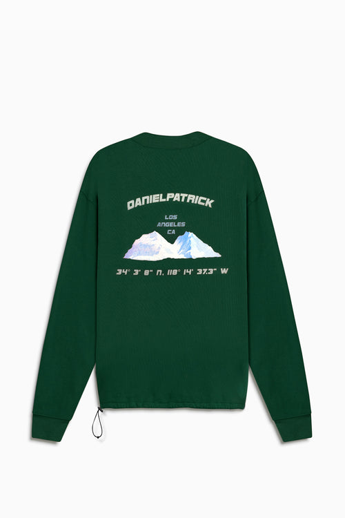 desert mountain bungee sweatshirt / hunter green