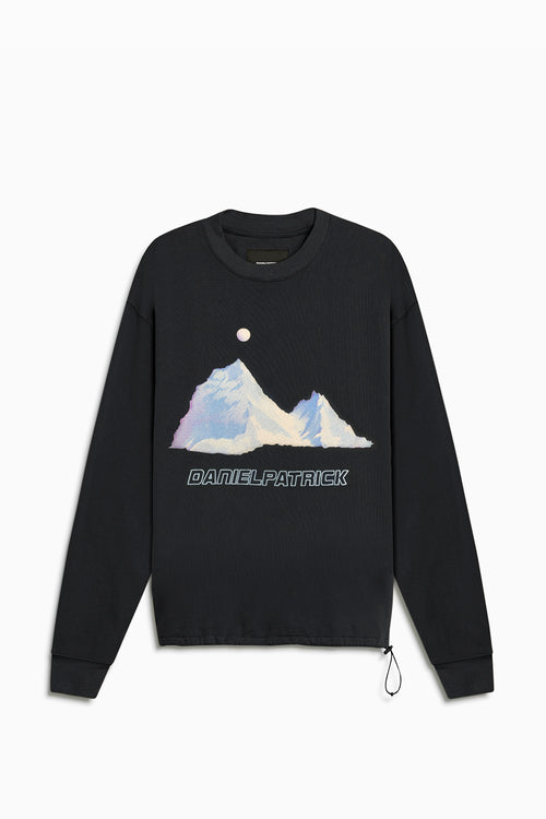 desert mountain bungee sweatshirt / washed black