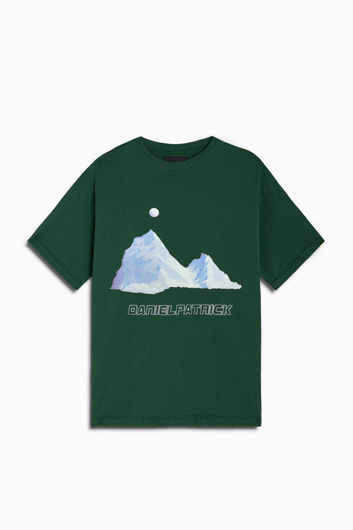 desert mountain tee / hunter green