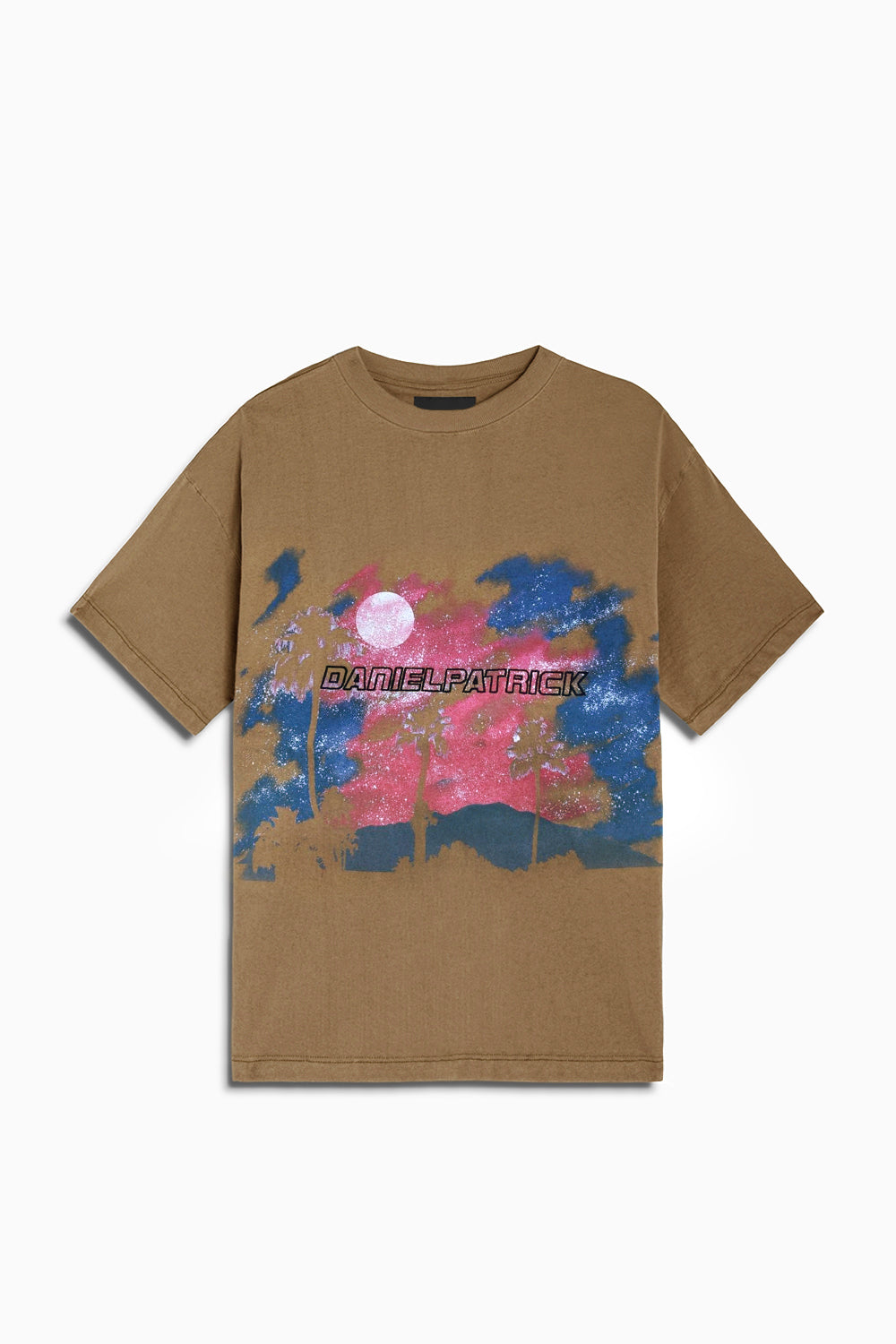 sunset tee / mojave + pink + blue