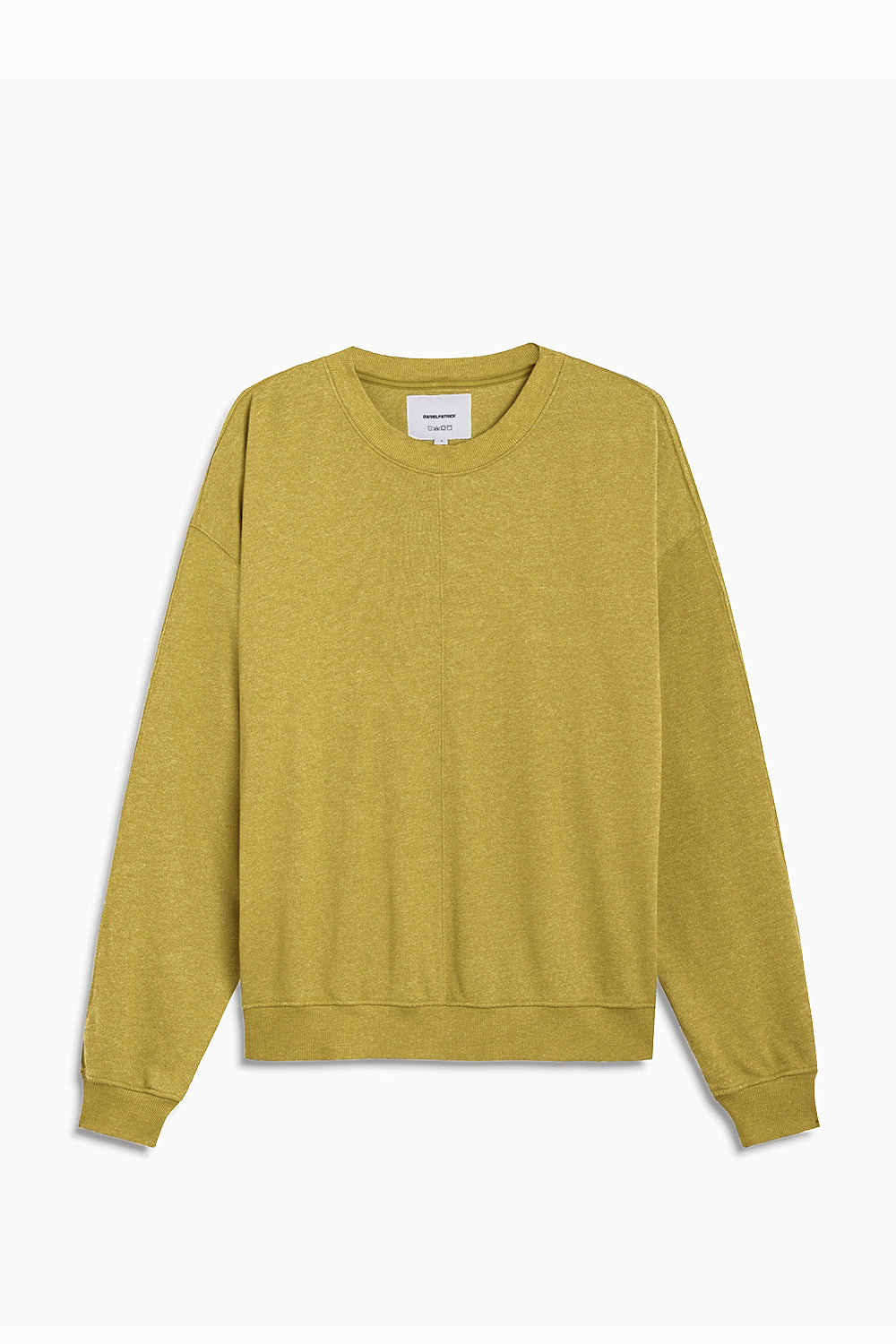 loop terry standard sweatshirt / mustard yellow