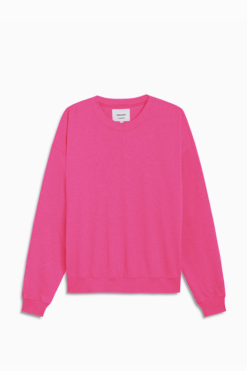 loop terry standard sweatshirt / wildflower pink