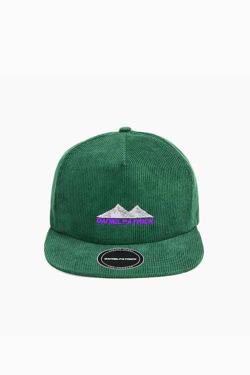 moving mountains cap / forest green + purple