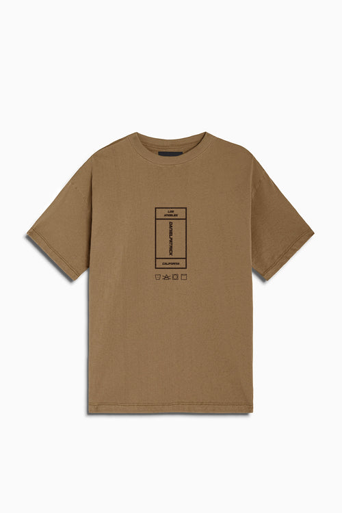 vertical rectangle tee / mojave